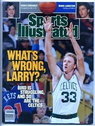 1989 MINT Sports Illustrated LARRY BIRD cover No Label Celtics