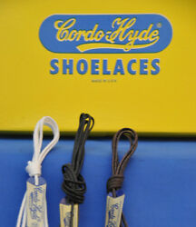 WAXED DRESS SHOE LACESTRING CORDO HYDE 4 Colors 6 Lengths- 1 PAIR-MADE IN USA $4.98