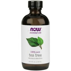 NOW 100% Pure Tea Tree Essential Oil 4 oz FRESH Made In USA $16.34