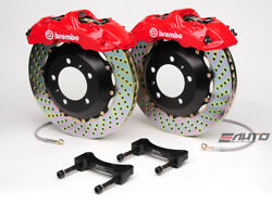 Brembo Front GT Brake BBK 6 piston Red 355x32 Drill Disc A4 09-14 A5 08-14 B8