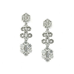 Diamond and White gold  Chandelier Drop Earrings