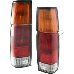 Rear Taillights Taillamps Brake Light Left & Right Pair Set for 86-97 D21 Pickup $66.46