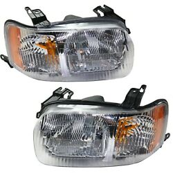 Headlight Set For 2001-2004 Ford Escape Driver and Passenger Side w bulb $59.23