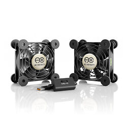 MULTIFAN S5 Quiet Dual 80mm USB Cooling Fan for Receiver DVR Computer Cabinets $14.99