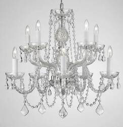 CHANDELIER CHANDELIERS LIGHTING Made With Swarovski Crystal H 25quot; W 24quot; $207.48