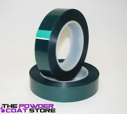 1 Inch x 72 yds High Temperature Polyester Green Masking Tape for Powder Coat $10.11