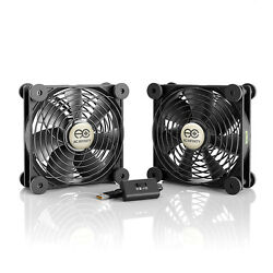MULTIFAN S7 Quiet Dual 120mm USB Cooling Fan for Receiver DVR Computer Cabinets $19.99