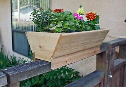 Cedar Planter For Fence Deck Rail or Patio. Set Of 2.  Free Shipping !!