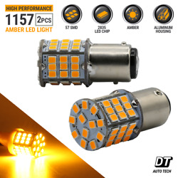 Syneticusa 1157 LED Amber Yellow DRL Turn Signal Parking Side Marker Light Bulbs $8.90