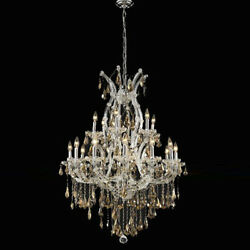 New Crystal Chandelier Maria Theresa Chrome 19 Lt 32X42 $2,634.64