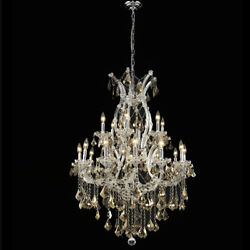 New! Crystal Chandelier Maria Theresa Chrome 32X42 $2,395.71