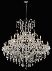 New Crystal Chandelier Maria Theresa Chrome 41 Lt 52X54 $4,379.83