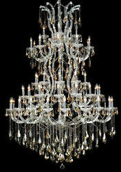 New Crystal Chandelier Maria Theresa Chrome 61Lts 54X72 $7,516.21