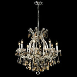 New Crystal Chandelier Maria Theresa Chrome 9Lts 26X26 $1494.34