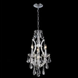 New Crystal Chandelier Maria Theresa Chrome 4 Lt 12X22 $434.40