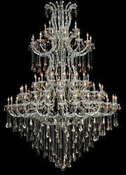 New Crystal Chandelier Maria Theresa Chrome 85Lts 72X96 $14,050.69