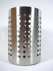 Large Kitchen Utensil Caddy IKEA ORDNING Stainless Steel Cooking Tools Holder $10.95