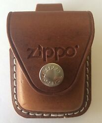 Zippo Brown Leather Lighter Pouch With Belt Loop LPLB New In Box $11.33