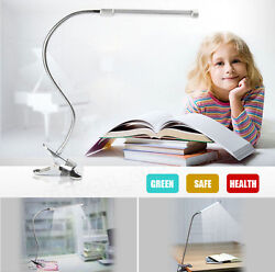 US Flexible USB Clip on Table Lamp LED Clamp Reading Study Bed Laptop Desk Light $16.99