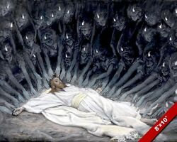 ANGELS MINISTERING TO JESUS PAINTING BIBLE CHRISTIAN ART REAL CANVAS PRINT $12.99