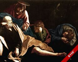 CHRIST IN GARDEN OF GETHSEMANE PAINTING BIBLE CHRISTIAN ART REAL CANVAS PRINT $12.99