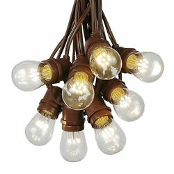 100 Foot S14 Outdoor Globe String Lights - Set of 50 LED S14 Edison Bulbs