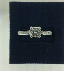 HEARTS ON FIRE ENTICEMENT PAVE ENGAGEMENT.96CTWLASER ENGRAVED DREAM CUT 0.72CT