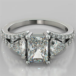 2.68Ct Radiant Cut Engagement Ring 14K White Gold With Optional Matching Band $1,155.00