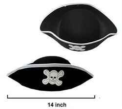 DELUXE PIRATE HAT pirates dress up costume hats caps pirates novelty new $6.99