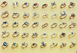 36 TURQUOISE PINKY RING women novelty jewelry NEW bulk lot wholesale jewelry new $12.99