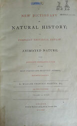 Antique Book-NATURAL HISTORY-ANIMAL DICTIONARY-HANDCOLOURED-Martyn-1785