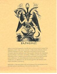 Book of Shadows Spell Pages ** Baphomet ** Wicca Witchcraft BOS
