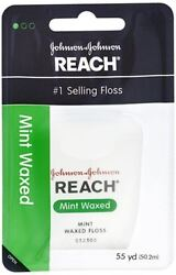 REACH Mint Waxed Floss 55 Yards (Pack of 5)