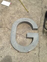 Metal Letter G for commercial buildings and signs 30 inches *