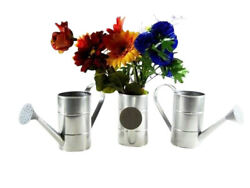 3pc New Water Cans Metal Galvanized Primitive Old Vintage decor country