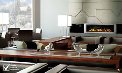 Napoleon's Vector Modern Series Direct Vent Linear Natural Gas Fireplace 62-INCH