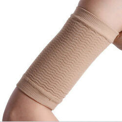 WOMENS ARM FAT LOSS BURN BURNER SLIM SHAPER WEIGHT LOSS TAN COMPRESSION BAND $7.99
