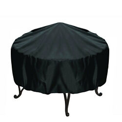 30-inch Round Fire Pit Cover Black