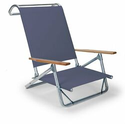 Telescope Casual Original Mini-sun Chaise Folding Beach Arm Chair Navy