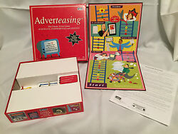 ADVERTEASING Board Game The Classic Trivia of Slogans Commercials Jingles 2005 $10.99