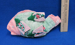 Hand Crafted Fish Shaped Fabric Bag Make Up Holder Mennonite Crafts USA Made NEW $9.49