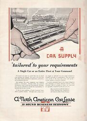 1931 North American Car Corp Ad: Car Supply Tailored to Your Requirements