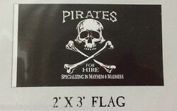 Pirates For Hire flag scuba dive equip novelty valentines day GIFT FUN 2x3 #656 $12.95