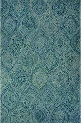 Hand-Tufted Abstract Pattern Mineral BlueGreen-blue Slate Wool (2x3) Area Rug
