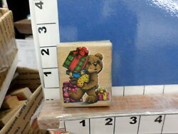 bear stuffed presents happy kid sky rubber stamp 8i $7.12