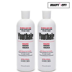 Youthair Creme for Men and Women Hair Coloring 16 oz Pack of 2 $24.95