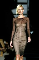 That GUCCI TOM FORD Tulle Covered NUDE Corset Dress KATE Wore SS 2001