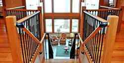 New 8-foot Handrail Unfinished Wood Stair Hallway Balcony Hand Rail (Un-Drilled)