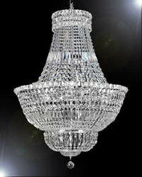 Made With Swarovski Crystal Chandelier FRENCH EMPIRE CRYSTAL LIGHTING H36quot; W30quot; $1347.21