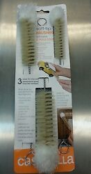 Casabella Soft Tip Bottle Brushes Set of 3 Bendable to reach into corners